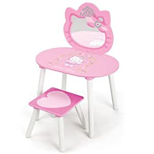 hello kitty schmink tisch spiegel frisiertisch kosmetik zubeh r schminktisch holz neu. Black Bedroom Furniture Sets. Home Design Ideas