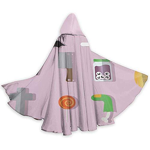 BYME Erwachsenen Mantel Unisex Halloween Kostüm Bat Sarg Cosplay - Übergröße Für Erwachsenen Engel Kostüm