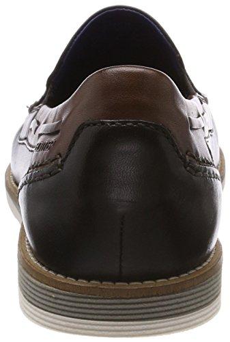 Daniel Hechter Mens 811437601111 Pantofola Nera (nero / Testa Di Moro)