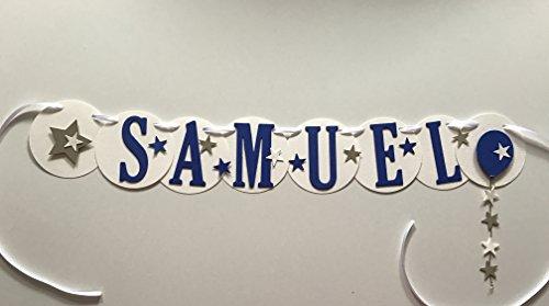 Samuel, Namenskette, Girlande aus Fotokarton mit 6 Buchstaben, Handgefertigt!