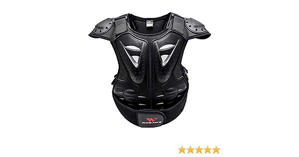 Gitvienar Brustpanzer Kinder Motorrad Weste Brustpanzer Schutzkleidung Mit Rückenprotektoren Für Mountainbike Motorradfahren Radfahren Skateboarden Sport Freizeit