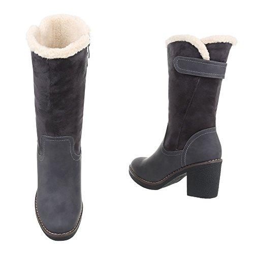 Heel Et Chaussures Bottes Kitten Bikerbottes Femme Ital Western 1Iw7q