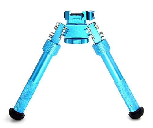 JINSE Gewehr Zweibein Bipod Picatinny Schiene QD Einklappbar Verstellbar Ständer 16,5cm-23cm Blau -