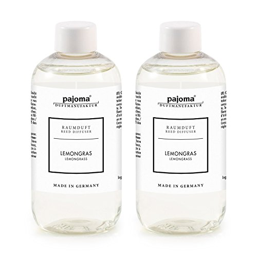 pajoma Raumduft Nachfüllflasche, Lemongras, 2er Pack (2x 250ml)