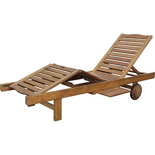 """HECHT Sonnen-Liege \""""Resort A Lounger\"""" Gartenliege aus Akazienholz"""