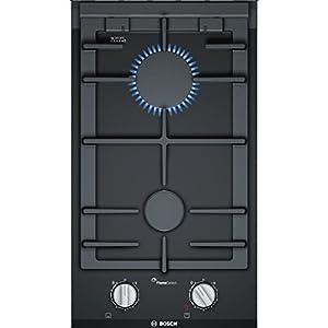 Bosch Serie 8 PRB3A6D70D hobs Negro Integrado Encimera de gas – Placa (Negro, Integrado, Encimera de gas, Vidrio y…