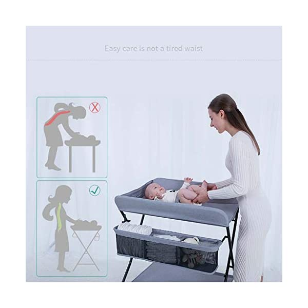 YRR Changing Table Folding Diaper Station Nursery Organizer for Infant YRR ★Made of rugged material, safe and sturdy construction, and quick and easy assembly design, it is also easy to wipe and clean, foldable, easy to carry, and can be deployed in seconds or indoors. Keep your baby safe ★Size: 80*67*104cm;Applicable baby age: 0~3 years old;Can carry weight: less than 25 kg;Material: Steel Pipe, high quality Oxford cloth ★Foldable design, easy storage, does not occupy space 4