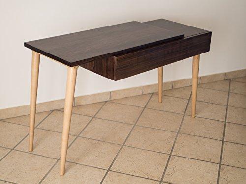 Rechteckige Schublade Beistelltisch (Ebanisteria Gambella - Konsolentisch aus Palisandre Holz)