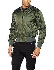 Kombat UK- Chaqueta bómber MA1, hombre, color Olive Green, tamaño XL