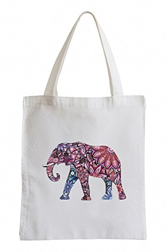 Raxxpurl Flower Power Elefant Fun Jutebeutel