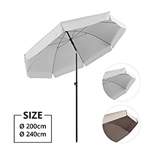 sekey parasol 200 cm inclinable pour patio jardin. Black Bedroom Furniture Sets. Home Design Ideas