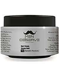 Men Deserve Hair Styling Cream Strong Hold (Keratin Restore)