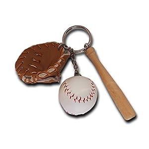 Mini dreiteilige Baseball glowooden Bat Sport Schlüsselanhänger Key kette...