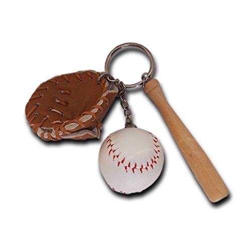 Mini dreiteilige Baseball glowooden Bat Sport Schlüsselanhänger Key kette Schlüssel Ring Geschenk für Mann Frauen