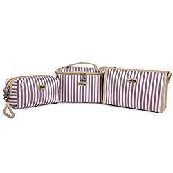 UberLyfe Multipurpose Pouch or Purse for Women - Purple - 3pc Set (PU-001173-COMBO)