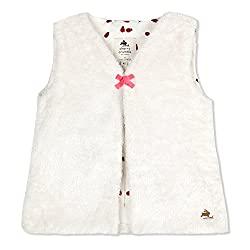Cherry Crumble English-Fur Gilet For Girls