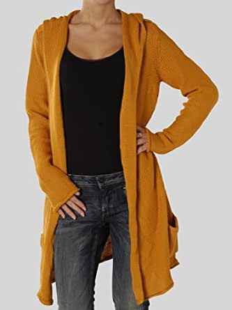 blaumax cardiff strickjacke gelb damen m bekleidung. Black Bedroom Furniture Sets. Home Design Ideas
