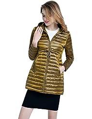 YOUJIA Mujer Casual largo Chaqueta de pluma Ligero - Acolchado Aire libre Abrigo de invierno Chaquetas