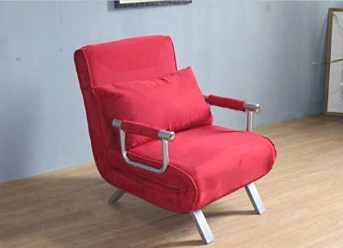 Italfrom - Sofá-cama de 1 plaza (67 x 69 x 83 cm), color rojo