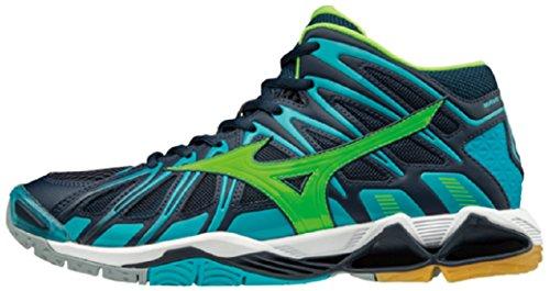 Mizuno Wave Tornado Schuhe (Mizuno Herren Wave Tornado X2 Mid Volleyballschuhe, Blau (Dressbluesgreengeckopeacockblue), 42.5 EU)