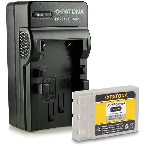 Novità - 4in1 Caricabatteria + Batteria come Koncia DR-LB4 / Minolta NP500, NP600 per Konica DR-LB4 | KD-310Z | KD-400Z | KD-410Z | KD-420Z | KD-500Z | KD-510Z | KD-520 | Minolta Dimage G400 | G500 | G530 | G600 | Praktica EXAKTA DC 4200 | Concord Eye-Q 4342z | Fujitsu-Siemens CX 431 | Rollei dt4000 | Prego DP4000