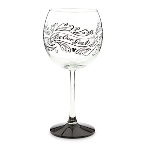 Disney Be My Guest rot Wein Glas Teil der Schönheit und das Biest Collection