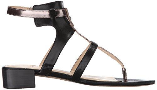 Nove in pelle occidentale Justnice Dress Sandal Black/Pewter