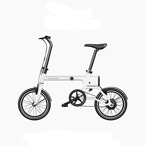14 9 KG FASHION LIGHTWEIGHT ELECTRIC BIKE  SMART FOLDING ELECTRIC BICYCLE EBIKE  16  120 W  36 V/2 6AH  LI ION BATTERY MINI BIKE  BLANCO