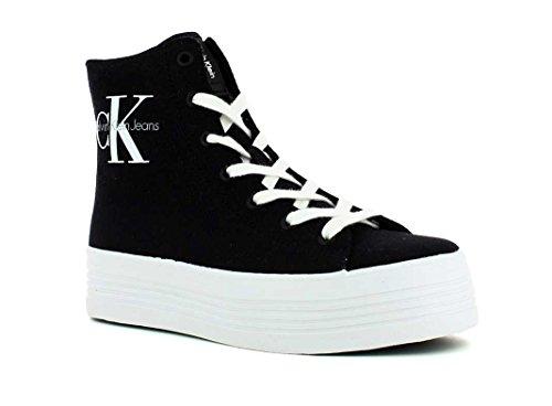 Calvin Klein Jeans Zabrina, Baskets mode femme Noir