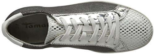 Tamaris 23635, Sneakers Basses Femme Blanc (WHITE STR COMB 192)