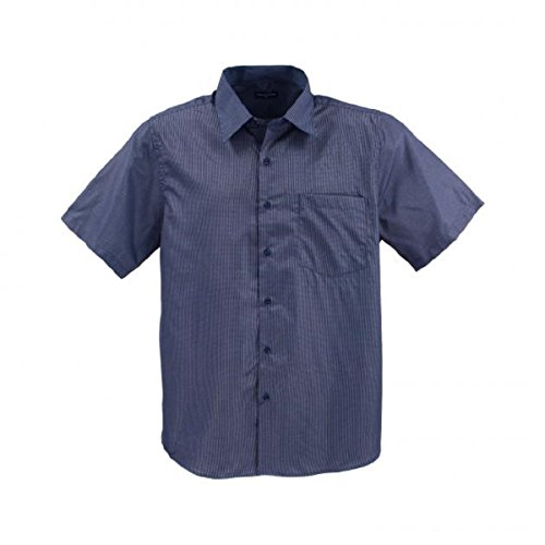 Lavecchia Herren Kurz Arm Hemd Blue-White in 3XL - 8XL Navy-Schwarz