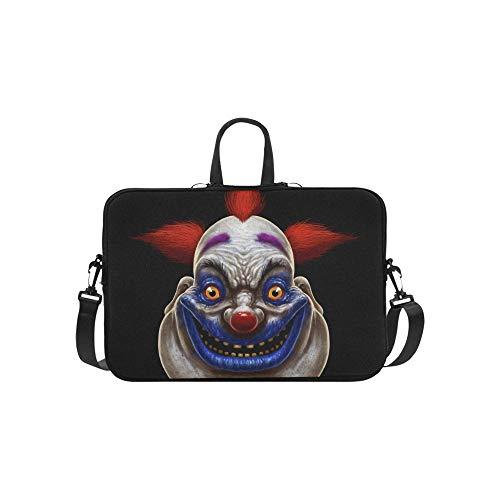 Böse Scary Clown Monster Muster Aktentasche Laptoptasche Messenger Schulter Arbeitstasche Crossbody Handtasche Für Geschäftsreisen