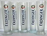 Erdinger / Gläser/Weißbierglas/weiß satiniert/Alkoholfrei / 5 x 0,5 Liter