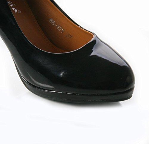 Mojoshu , Sandales Compensées femme Noir