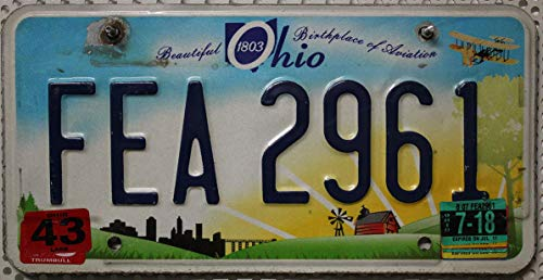 USA Nummernschild OHIO / Aviation ~ US Kennzeichen License Plate ~ Blechschild