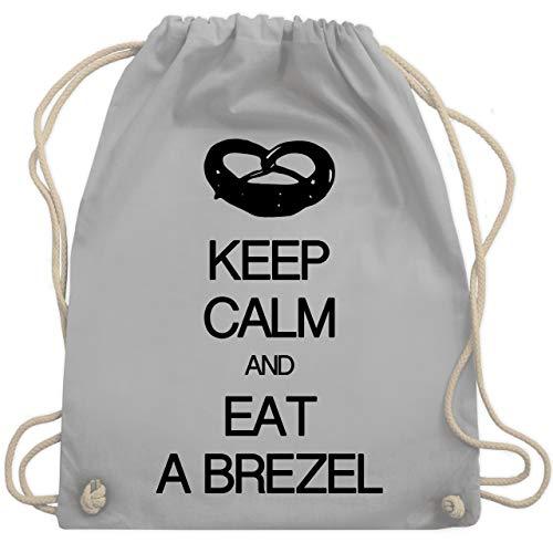 Keep calm - Keep calm and eat a brezel - Unisize - Hellgrau - WM110 - Turnbeutel & Gym (Keine Kostüm Meme)