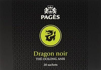 PAGÈS Thé Oolong Anis Dragon Noir 20 Sachets 40 g - Lot de 4