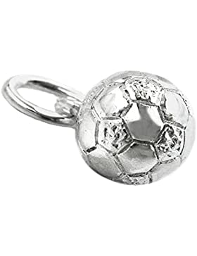 Anhänger, Fußball mit Öse, Silber 925