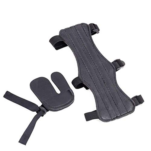 Sortim Bogenschießen Arm Unterarm Schutz Finger Tabletten Schutz Satz für Traditionell Gerkurvter Bogen