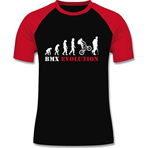 Gemacht Usa-t-shirt Im (Evolution - BMX Evolution - S - Schwarz/Rot - L140 - Herren Baseball Shirt)
