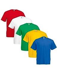 Juego de 5 Camiseta Fruit Of The Loom