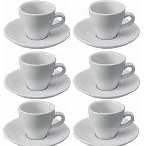 viva haushaltswaren lot de 6 tasses caf expresso avec. Black Bedroom Furniture Sets. Home Design Ideas
