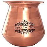 IndianCartVilla Pure Copper Plain Copper Lota Kalash Pot, For Poojan Purpose, Drinkware, 350 ML