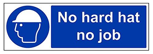 vsafety 41007bj-s No rigida Cappello non lavoro obbligatoria PPE Sign, Autoadesivo, paesaggio, 450mm x 150mm, colore: blu