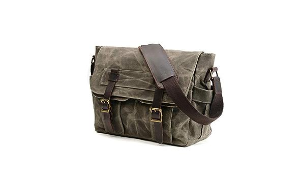 Jfzs Multifunktions Canvas Motorradtasche Seitentasche Satteltaschen Schulter Umhängetasche 1 Taschen 38 28 14 Cm Green Küche Haushalt