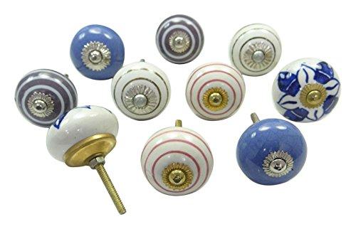 vintage-handgemalte-kuche-fach-keramik-kabinett-knob-schrank-pulls