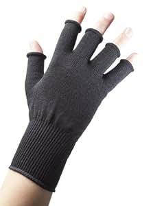 Edz Unisex-Adult Merino Wool Fingerless Gloves, Grey, One Size