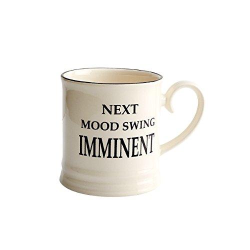 Fairmont & Main Quips & Quotes-Taza de cerveza-Next Mood Swing inminente, color crema