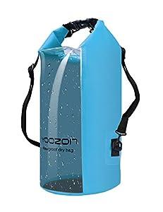 Sac étanche, Yoozon Imperméables Nautiques Sac Etanche plongée/à l'eau Sac à dos Sac Sec Dry Bag pour le canotage, la randonnée, Camping, pêche, Nage, et autres activités en plein air (Bleu, 30L)