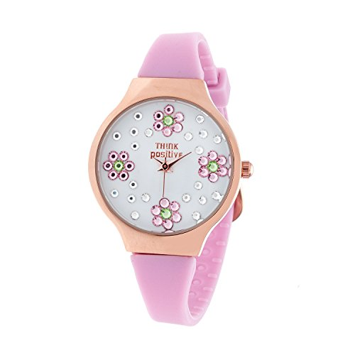 ladies-think-positiver-modell-se-w114a-blumen-kleine-rose-bugel-silikon-farbe-rosa